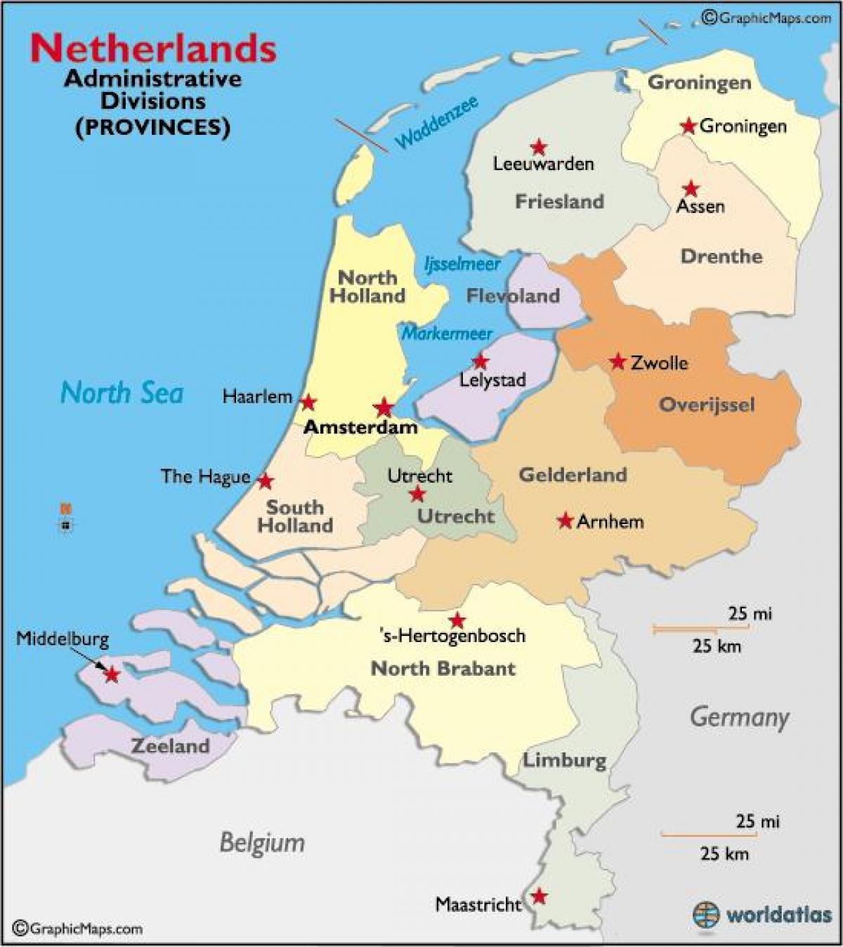 Cartina Olanda Politica.Olanda Regioni Sulla Mappa Mappa In Olanda Regioni Europa Occidentale Europa