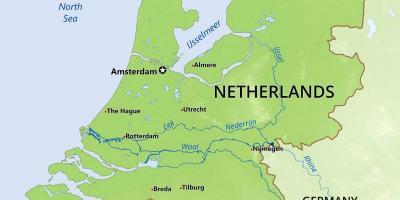 Paesi Bassi Cartina Fisica Olanda.Paesi Bassi Mappa Fisica Fisica Mappa Dei Paesi Bassi Europa Occidentale Europa